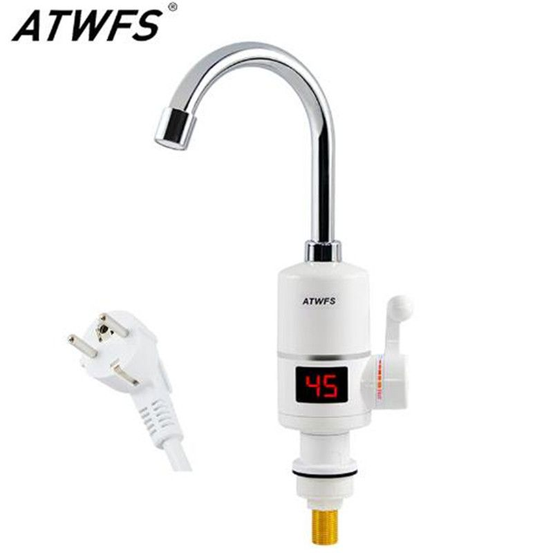 Electrical Faucet with Temperature Display Instant electric Water Heater Tap Fast Instantaneous Thermostat for Water Heater