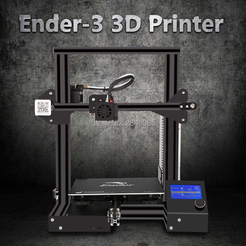 Super Creality 3D Ender-3 3D Printer DIY Kit Lowest Price Promote Printing size 220*220*250mm