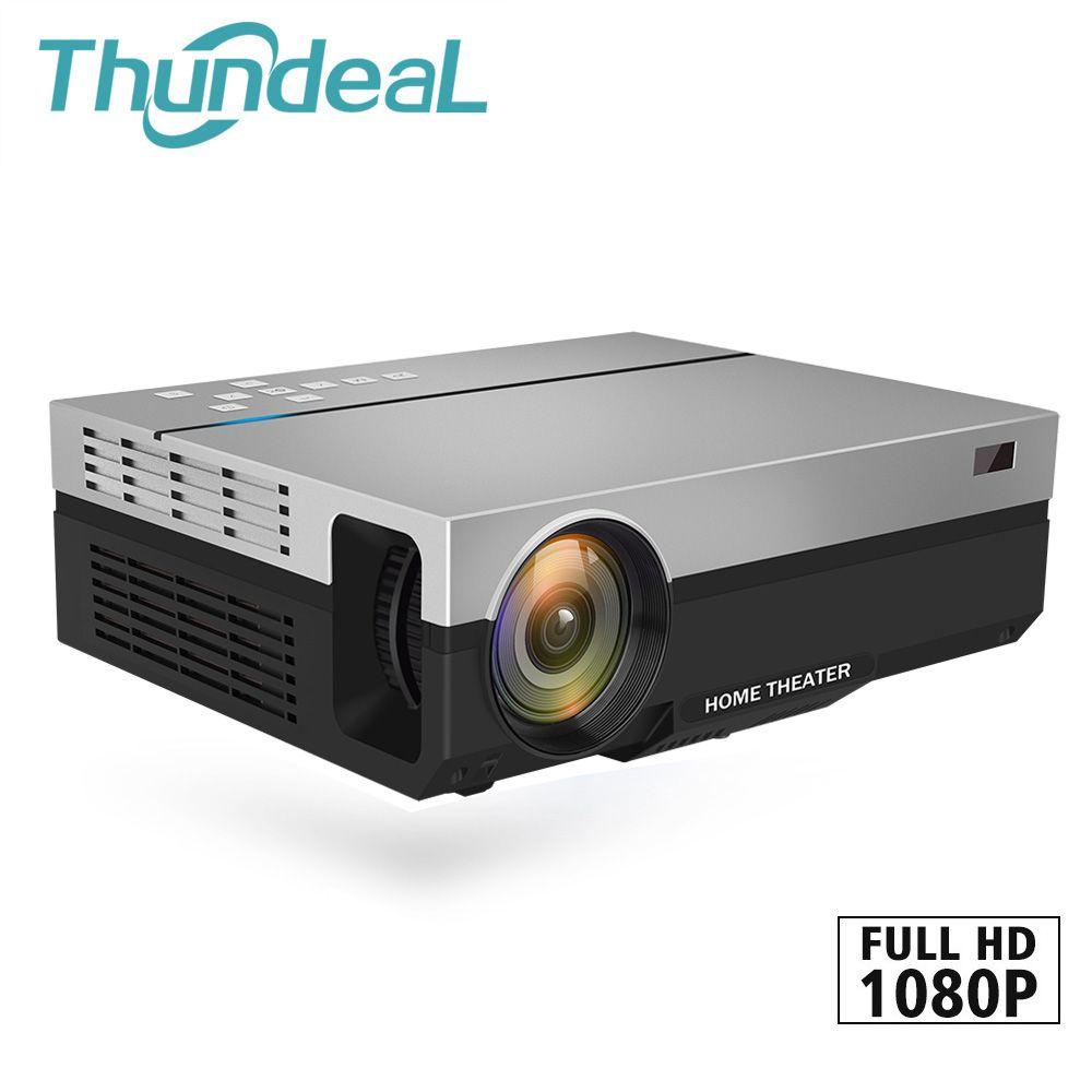 ThundeaL projecteur Full HD T26K natif 1080 P 5500 Lumens LED vidéo LCD Home cinéma cinéma HDMI VGA USB TV 3D Option projecteur T26