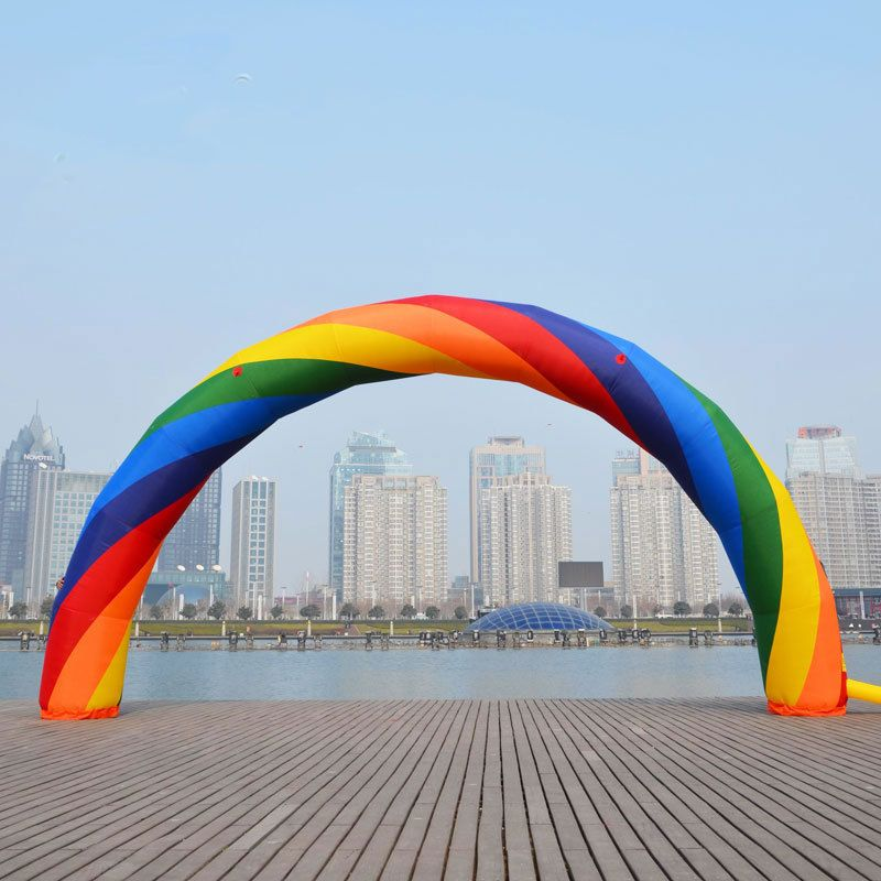 20ft*12ft D=6M inflatable Rainbow arch for Advertisement with blower Party Supplies/Event Decorations 110v/220v 1pc
