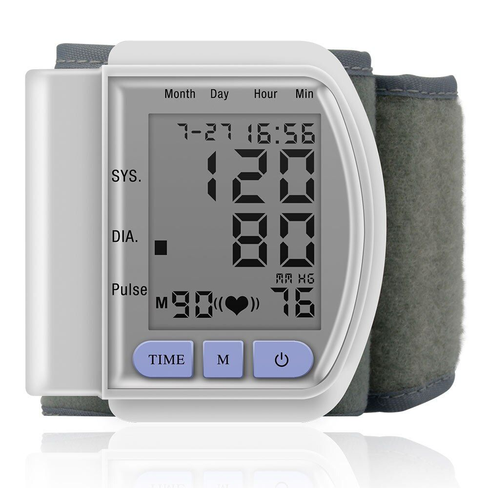 Medical Wrist Blood Pressure Monitor AutomaticTonometr Measurement Tensiometro Digital Bp Heart Rate Monitor Sphygmomanometer