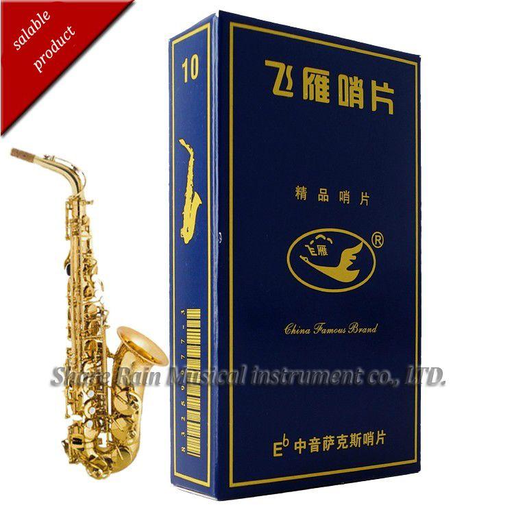 Ganso volando caja azul Eb saxofón alto reed principiantes usan trajes de embalaje independiente