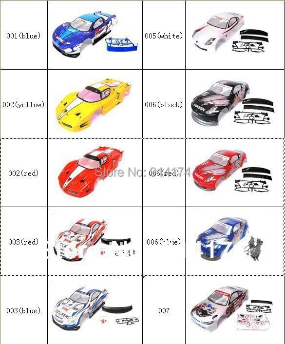 YUKALA 1/10 rc coque de carrosserie pour 1:10 R/C voiture de course 190mm henglong 2 pcs/lot livraison gratuite