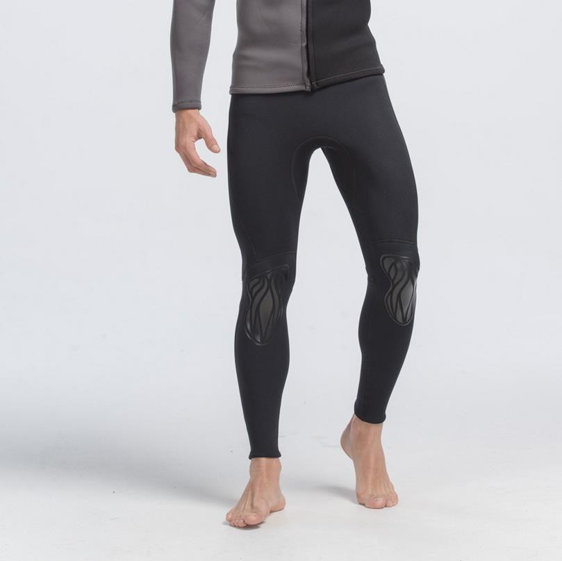 SBART hommes 3MM néoprène natation Uv Long pantalon plongée surf collants sport Leggings combinaison De Bain Rashguard court De Bain S701
