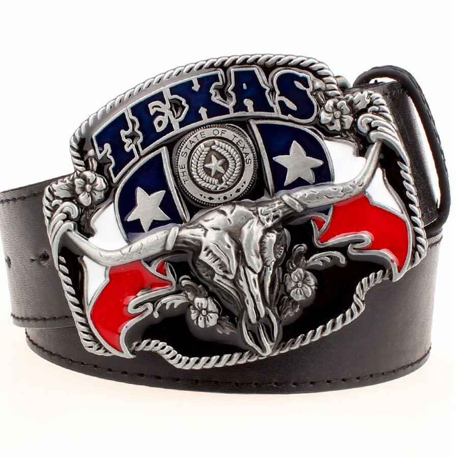 Sauvage ouest cowboy personnalité hommes ceinture métal boucle tête de taureau américain Texas western cowboy style ceintures tendance ceinture pour hommes cadeau
