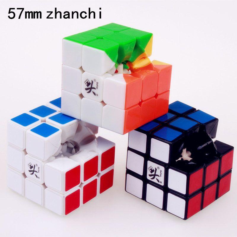 57mm dayan 5 zhanchi magique cube de vitesse puzzle ultra-lisse cubo magico professionnel classique autocollants jouets pour enfants