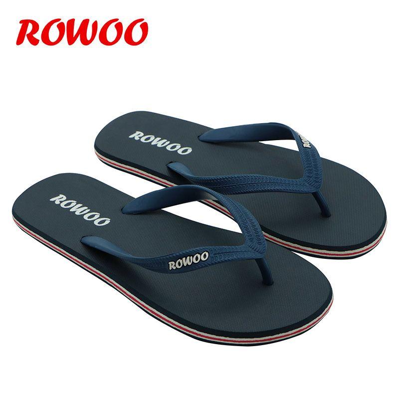 Tongs hommes plage sandales plates bout ouvert extérieur décontracté mâle sandales tongs 39-46 grandes tailles chaussures d'été hommes pantoufles