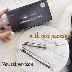 DDK magia seda negro Mascara Set DiDiCat extensión de la pestaña alargamiento volumen 4D fibra impermeable Mascara cosméticos mejor calidad
