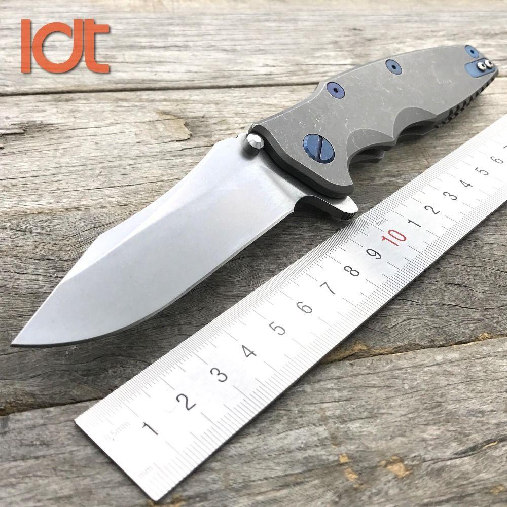 LDT 0392 couteau pliant M390 lame titane poignée KVT roulement à billes Camping extérieur utilitaire couteaux couteau de chasse de poche EDC outils