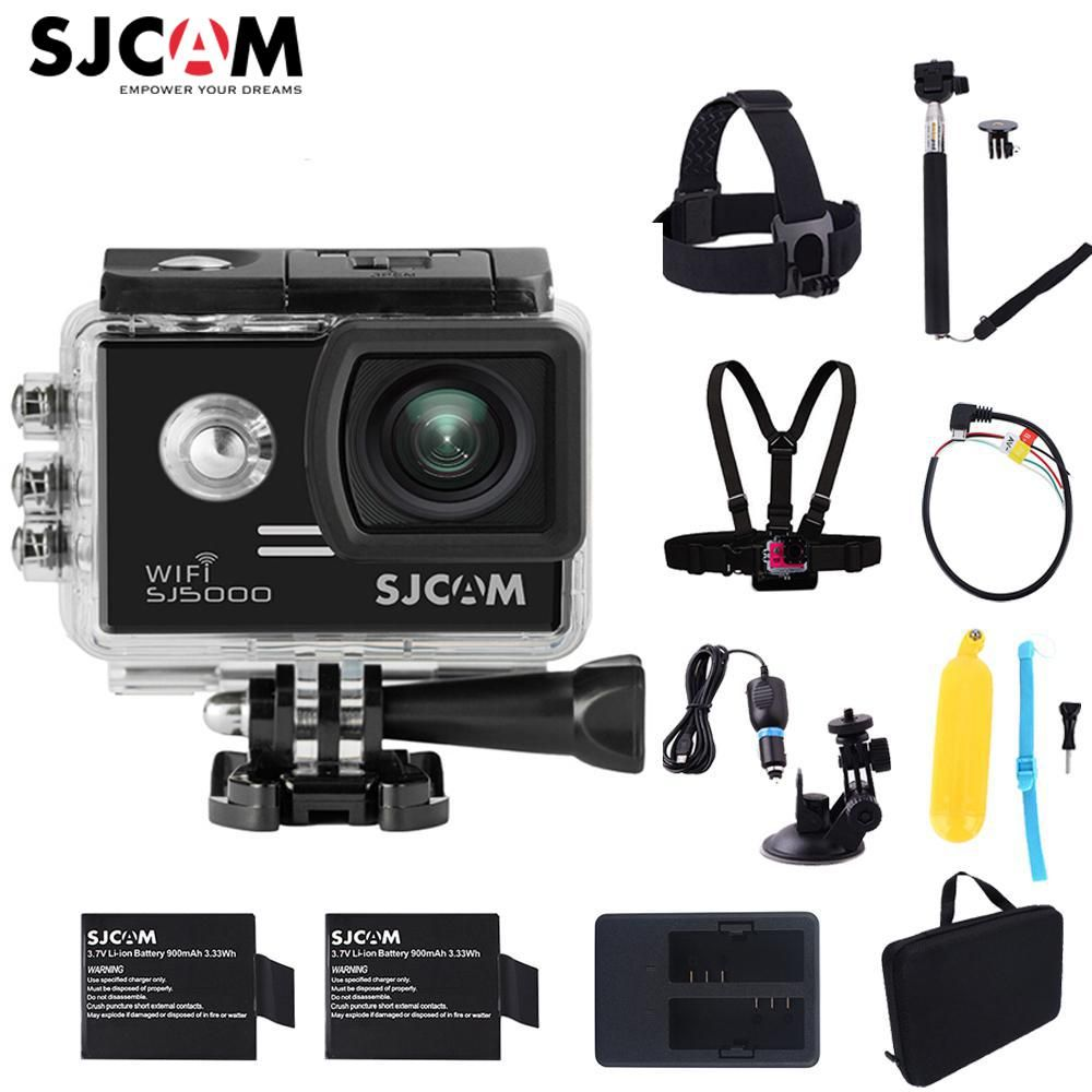 100% Original SJCAM SJ5000 WiFi Novatek96655 14MP Diving 30M Waterproof Mini Sports Action Camera Sj 5000 Wifi Car Cam DVR
