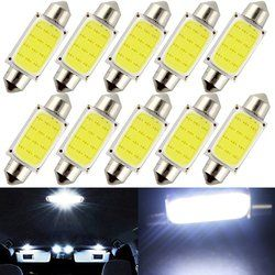 Kebedemm 10 pcs/lot 31mm 36mm 39mm 41mm Voiture COB 1.5 W DC12V Intérieur Voiture LED Ampoules lampe Intérieur