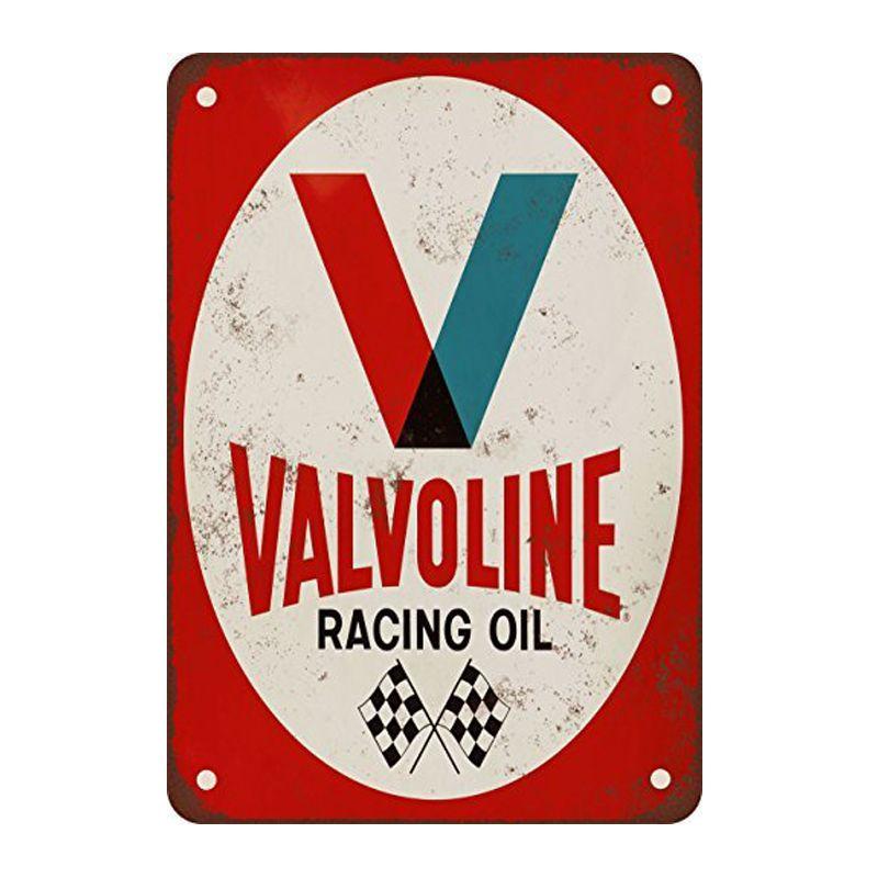 Valvoline Racing aceite. Signos de estaño placa de metal de la vendimia decoración de la pared para el garaje Bar Café