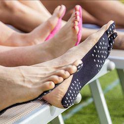 Haute Qualité Pieds Autocollant pied Bâton sur Semelles Notes Autocollantes pour Pieds Anti-glissement chaussette de plage étanche semelle Pieds Protection