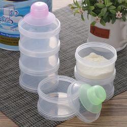 1Pc Portable Baby Milk Powder Storage Box Feeding Bottle Kids Infant Three Grid Formula Food Container Dispenser Random