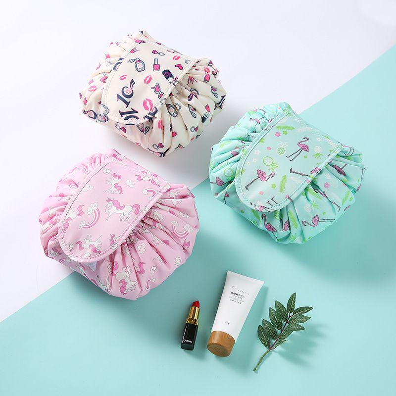 Mode paresseux personne cosmétique sac imprimé cordon maquillage sac Portable Rapide Pack Étanche Voyage Sac