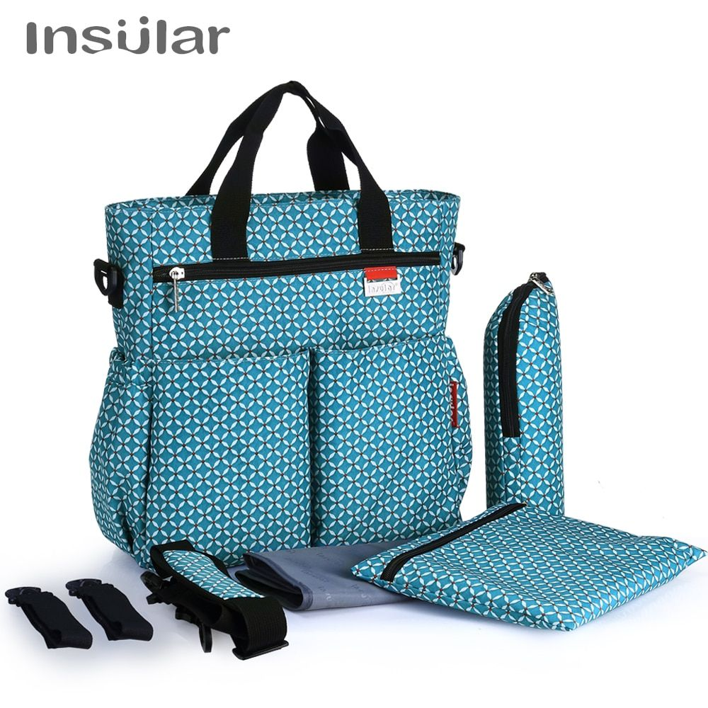 Insular Fashion Baby Diaper Bag Nappy Bags Waterproof <font><b>Changing</b></font> Bag Multifunctional Mommy Stroller Bag