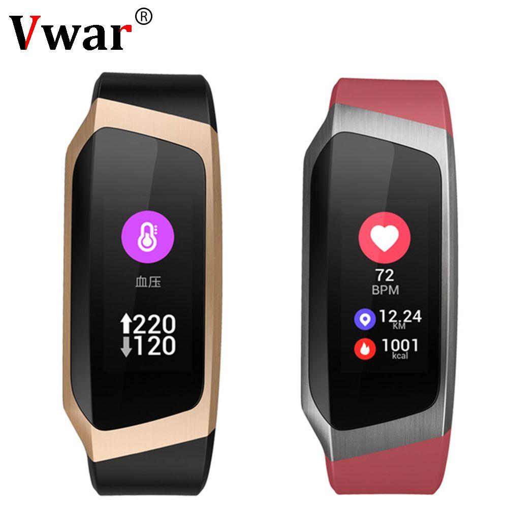 Vwar Smart Band IP67 Waterproof Blood Pressure Smart Bracelet Heart Rate Monitor Sport Fitness Bracelet Tracker Mi 4 3 Wristband