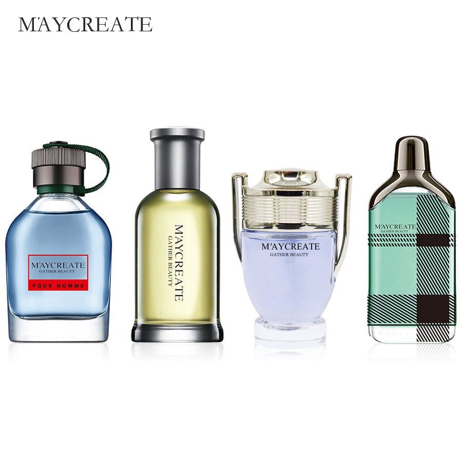 MayCreate Perfumed Men Mini Bottle Portable For Men Female Perfumed Women Parfums Brand Lasting Fragrance Spray Bottle 1Set
