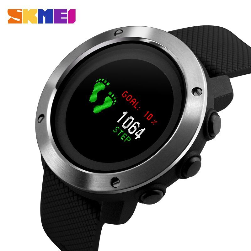 New Men's Smart Watches SKMEI Brand Top OLED Display Digital Watch Outdoor Compass Pedometer Calorie Waterproof Sports Watches