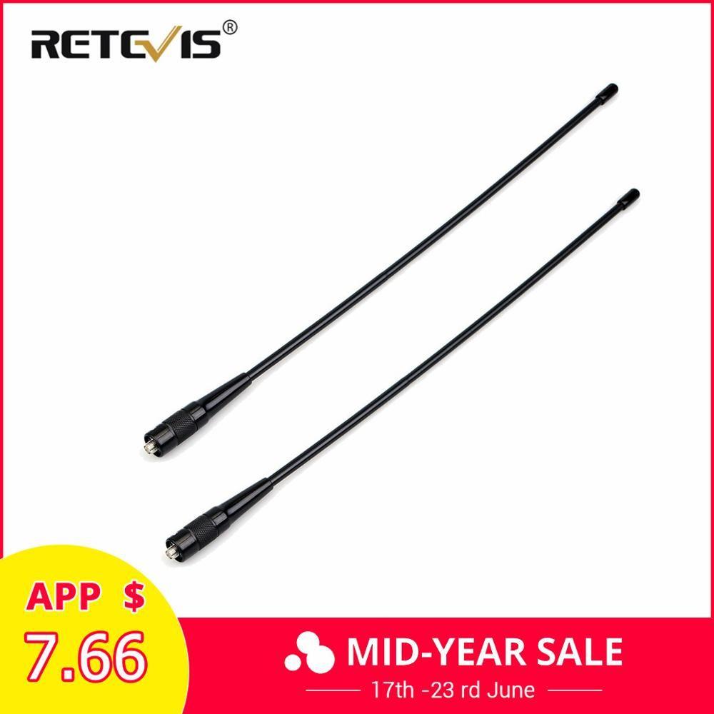 2pcs RETEVIS RHD-771 SMA-F Walkie Talkie Antenna VHF UHF Dual Band 39cm For Kenwood Retevis H777 RT5R Baofeng UV5R 888S UV-82