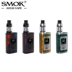 Good Price Original SMOK Majesty Kit 225W Electronic Cigarettes Box Mod Kit with 4ml X-Baby Tank Resin Carbon Fiber E Cigarette