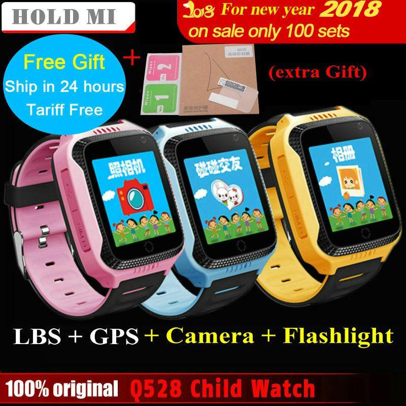 2017 Nueva Mantener Mi Q528 Y21 Pantalla Táctil Niños Reloj GPS con Iluminación de la cámara Reloj Inteligente Sleep Monitor de GPS SOS Reloj Bebé PK Q60
