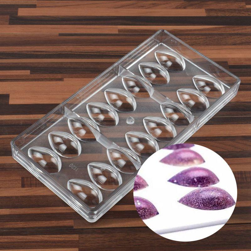 SDFC-Lotus Form PC Polycarbonat Schokoladenform 3D Food Schokolade Mould Kitchen Tools Backform Werkzeuge