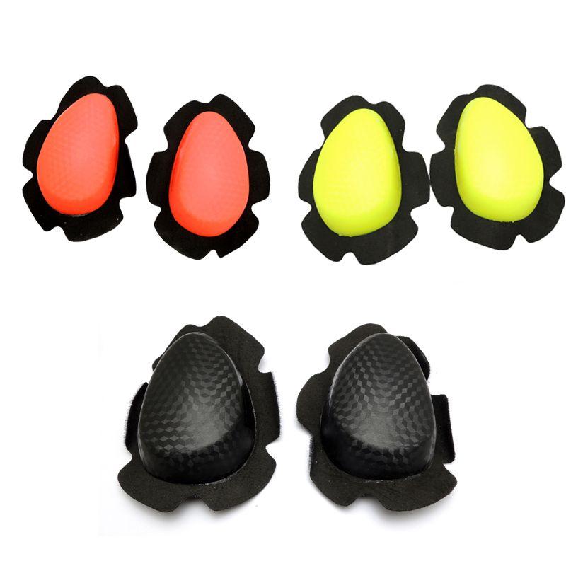 Deslizadores deslizadores de rodilla de la motocicleta Rodillera rodillera protectora Universal de tres colores Misma como muestra la foto