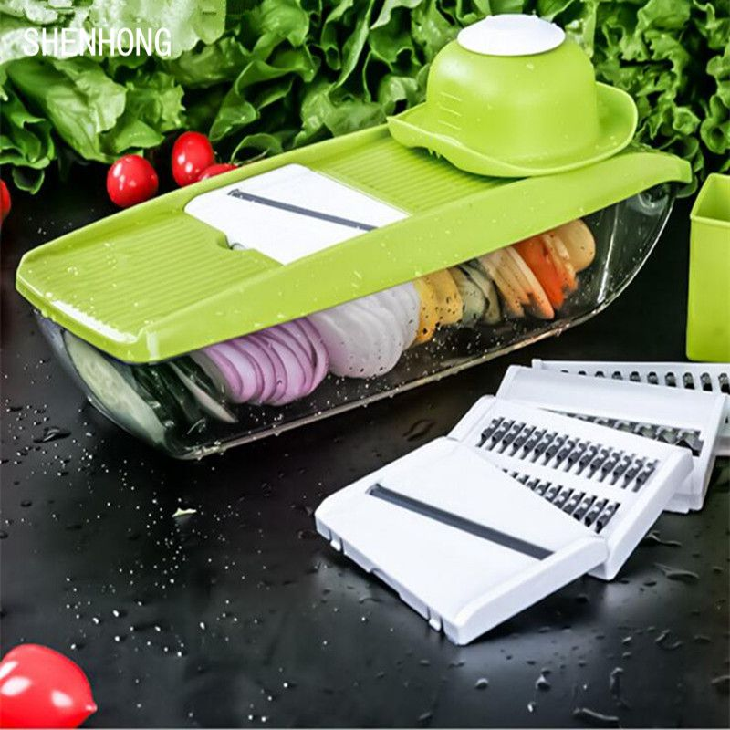 Mandoline Slicer Manual Vegetable Cutter with 5 Blades Potato Carrot Grater for Vegetable <font><b>Onion</b></font> Slicer Kitchen Accessories