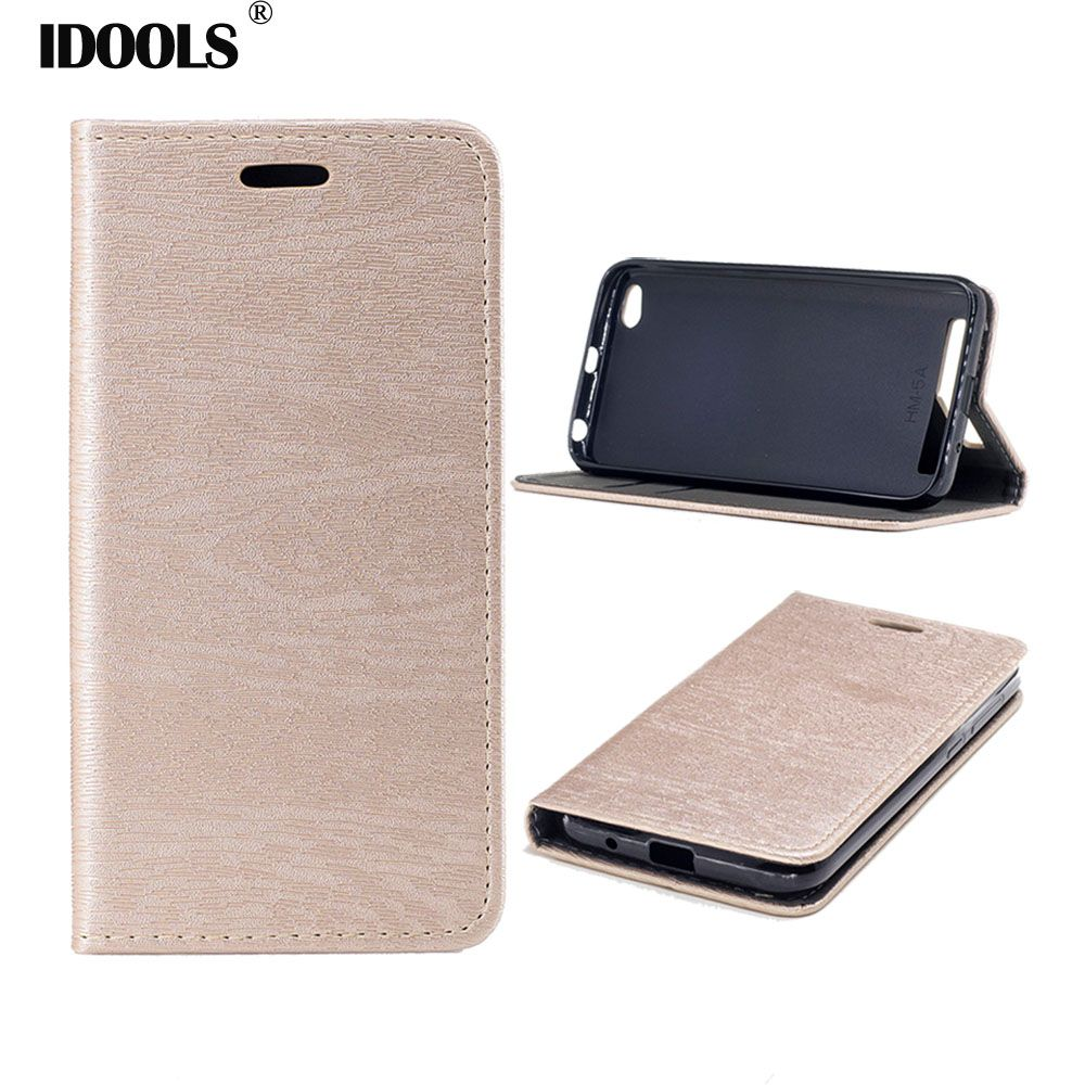 IDOOLS Case For Xiaomi Redmi 5A 5 A 5.0 inch PU leather Wallet Flip Cover Phone Bag Cases For Xiaomi Redmi 5A Pro Redmi 5A Prime