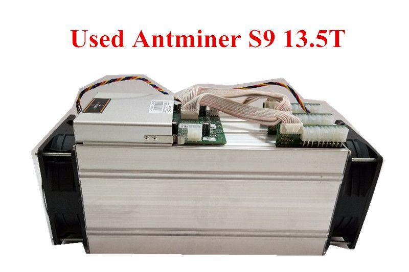 Verwendet AntMiner S9 13,5 t Bitcoin Miner Asic BTC BCH Miner Besser Als WhatsMiner M3 M10 T9 + Ebit E9 avalon 921 841 V9 S7