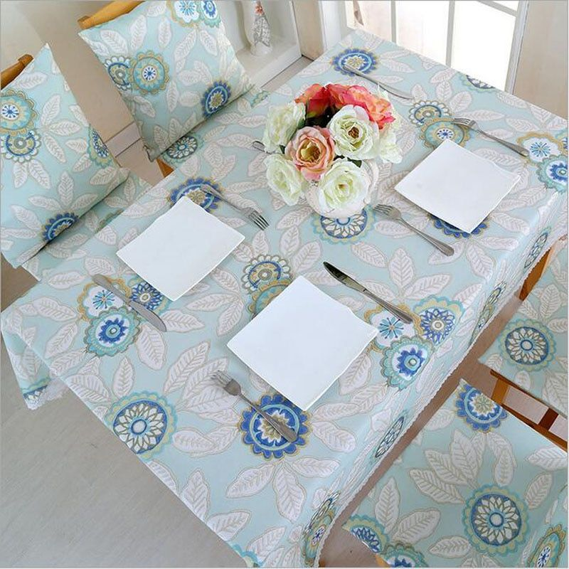 Quality Table Cloth Thicker Waterproof Rural Flower Tablecloth Dining Cotton Linen Rectangular Tea Table Cover Lace Home Textile