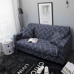 Sofa Mencakup untuk Ruang Tamu Sofa Handuk Wrap Tinggi Elastis All-inclusive Sofa Couch Sarung Penutup 1/2/3/4 Seaters Drop Pengiriman