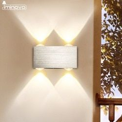 Modern LED Wall Lamp 3W 6W Wall Sconces Indoor Stair Light Fixture Bedroom Bedside Living Room Home Hallway Loft Up Down Lampada