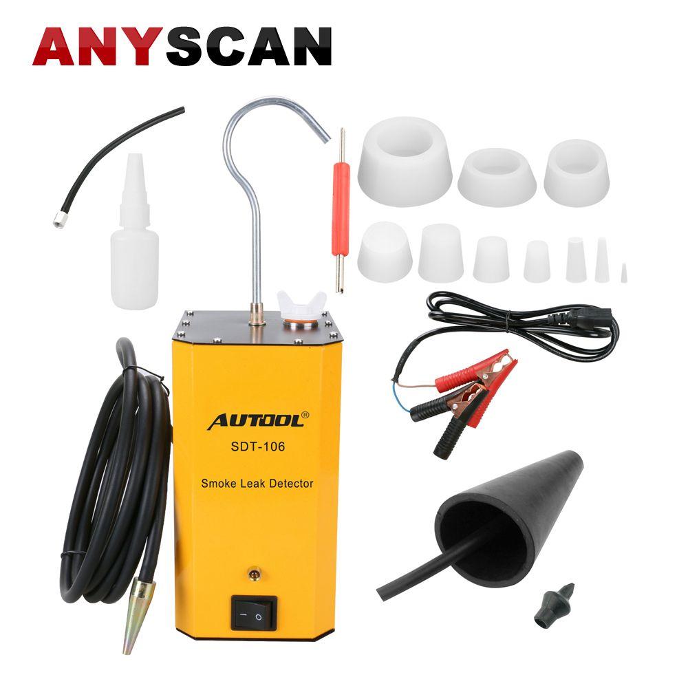 AUTOOL SDT-106 12 V Auto Rohr Systeme Rauch Leck Detektor Auspuff Rauch Meter Automotive Diagnostic Tester Werkzeug