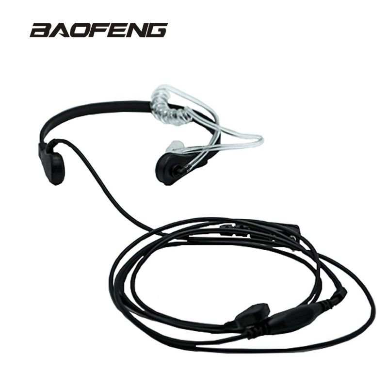 New brand Throat Microphone Throat Vibration Headset For Two Way Radio BaoFeng UV-5R UV-82 UV-B6 BF-888S walkie talkie earphone