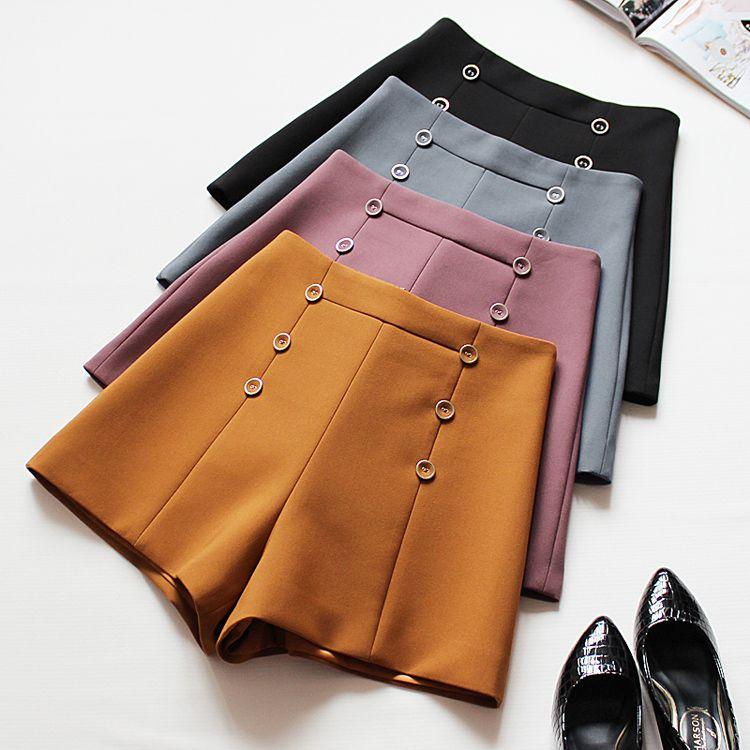 2018 Summer Black Shorts Casual Women High Waisted Slim Shorts Female Skinny Fitting Shorts Solid Orange