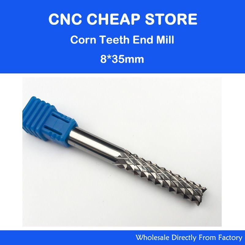 1pc 8*<font><b>35mm</b></font> Good Qualtiy Tungsten Steel Carbide End Mill Engraving Corn Teeth Bits CNC PCB Rotary Burrs Milling Cutter Drill Bit