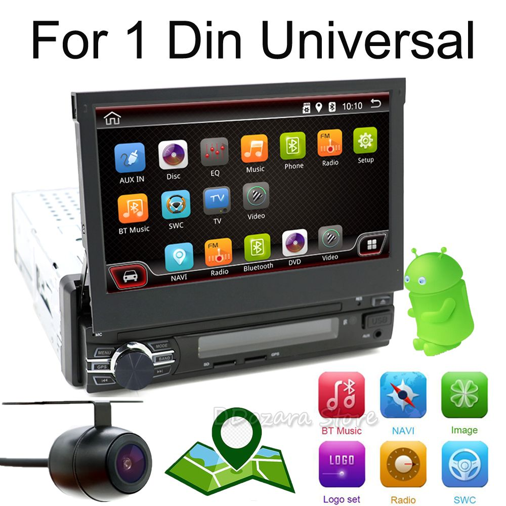 Single 1 Din Android 6.0 Quad Core Universal Car DVD GPS Multimedia 7inch Capacitive Cassette Player WIFI Bluetooth