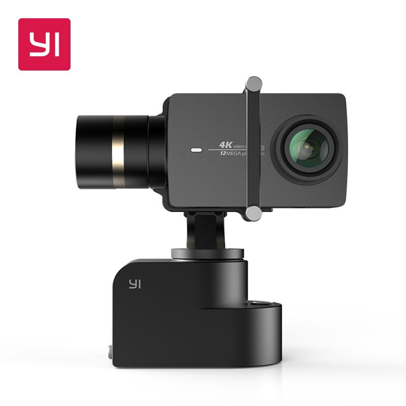 YI Handheld Gimbal With YI 4K Action Camera and Selfie Stick&Bluetooth Remoter 3-Axis Pan/Tilt/Roll Manual Adjustment 320 Degree
