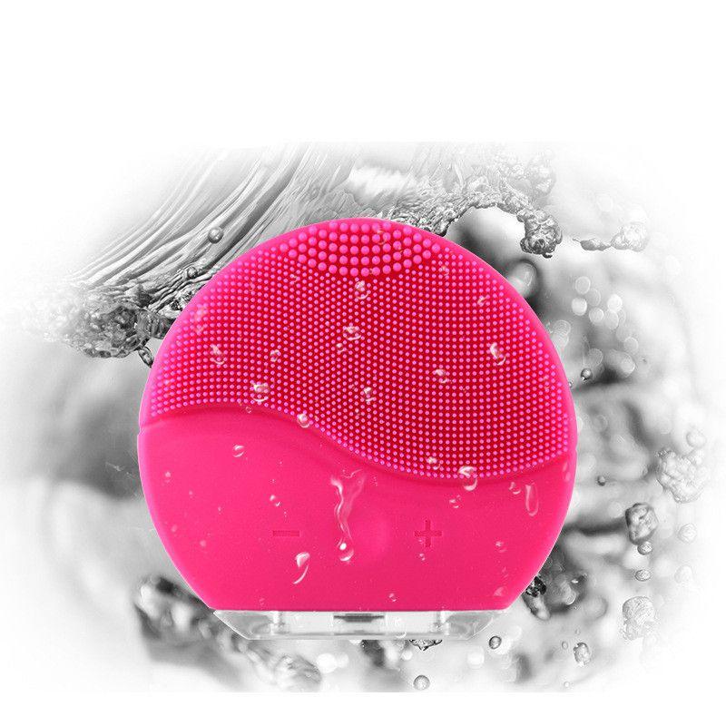 ZD Du Visage Électrique brosse de nettoyage Sonic Vibration Mini Visage Cleaner Silicone Profond nettoyage des pores Peau Imperméable À L'eau De Massage CO867