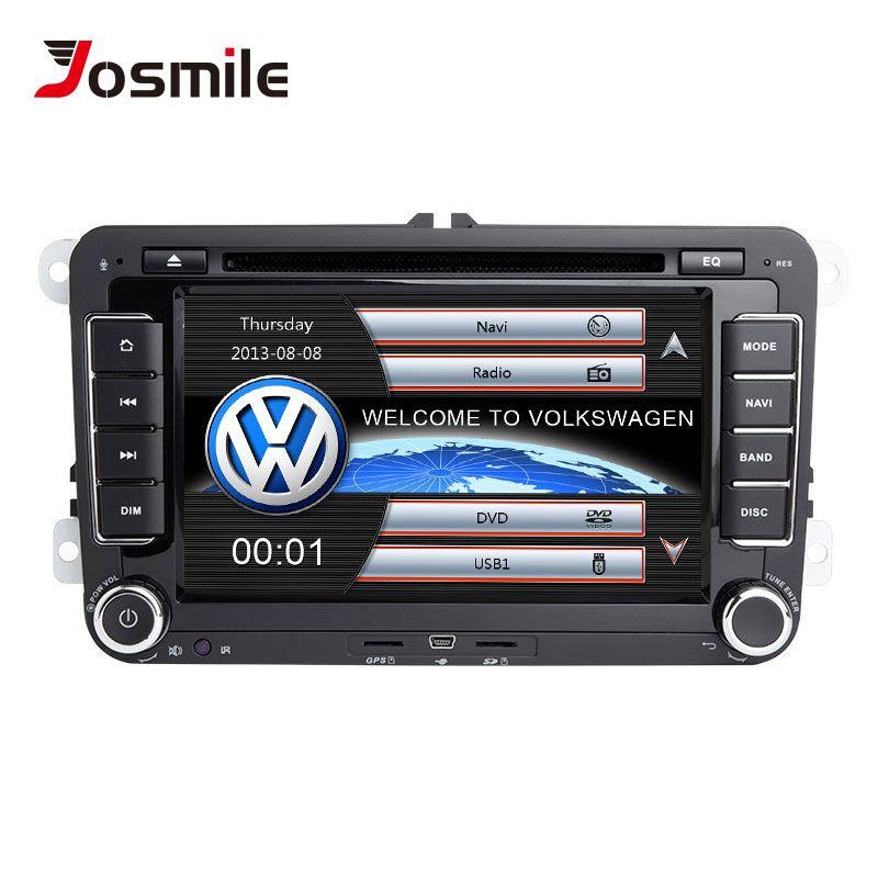 Josmile 2 Din Auto DVD Player Für VW Volkswagen Passat b6 b7 Skoda Octavia Superb 2 T5 Golf 5 Polo sitz leon Radio GPS Navigation