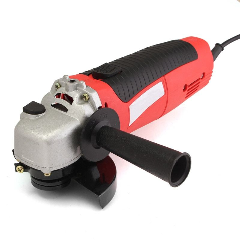 Doersupp 11000 RPM Angle Grinder 4-1/2'' Electric Metal Cutting Tool Small Hand Held Red Power Tool High Quality