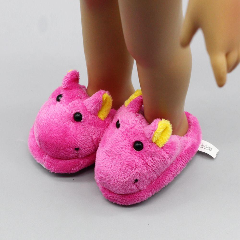 1 пара оптовая продажа с фабрики красивое РОЗОВОЕ Фетр Шлёпанцы для женщин для американских Обувь для девочек 18 дюймов Гриль Аксессуары для ...