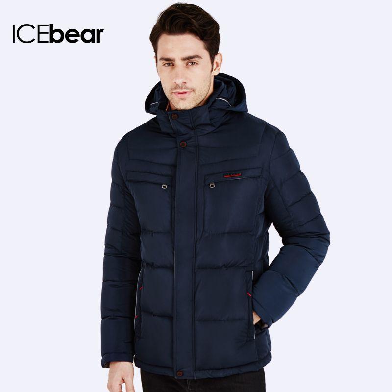 ICEbear 2016 Neue Ankunft Parka Marke Kleidung Winter Männer Baumwolle Winter Warme Regelmäßige Formale Jacken Und Mäntel 16MD866
