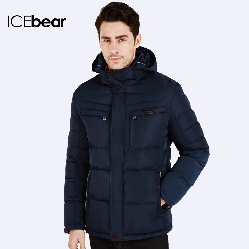 ICEbear 2016 New Arrival Parka Brand Clothing Winter Men Cotton Winter Warm Regular Formal Jackets And Coats 16MD866