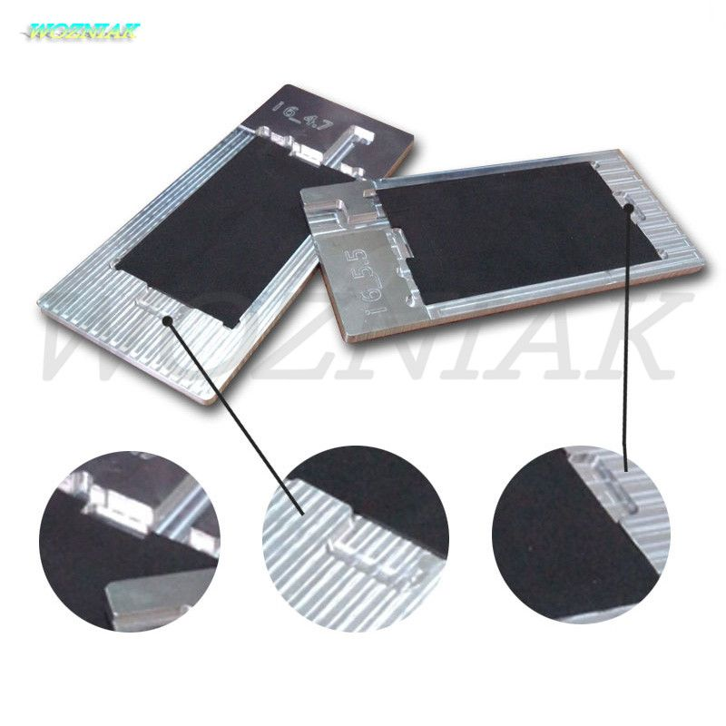 Wozniak OCA Adhesive Glue Polarized Film Removing Mold Holder Scraper wiper Blade Iron Tools for iPhone 5 6 6s 7 plus Mould