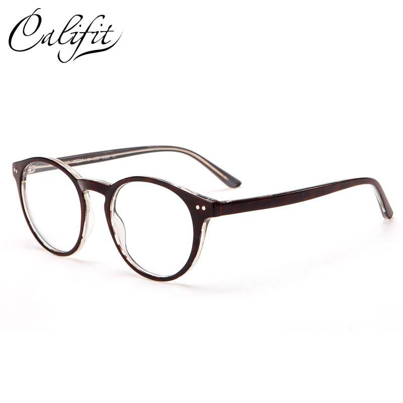 Califit Винтаж Круглый оптический Очки Для женщин рецепта линзы заклепки очки Очки женский бренд дизайн тенденции очки новый