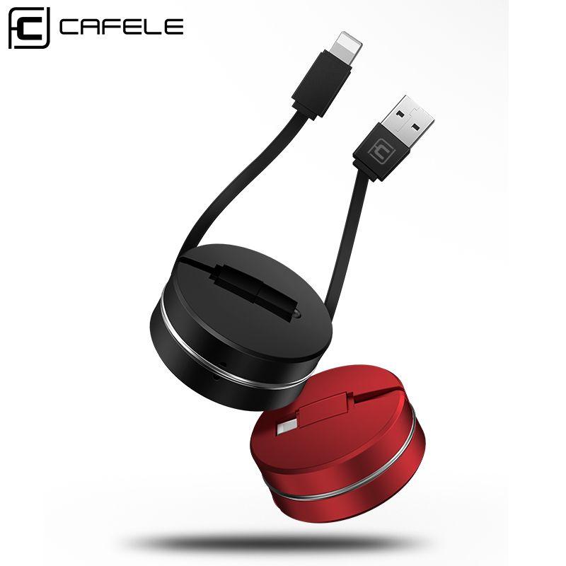 CAFELE De Charge USB Câble pour iphone 8 7 6 6 s Plus 5 5S Data Sync USB Câble pour iphone Mini portable Rétractable Téléphone Câbles