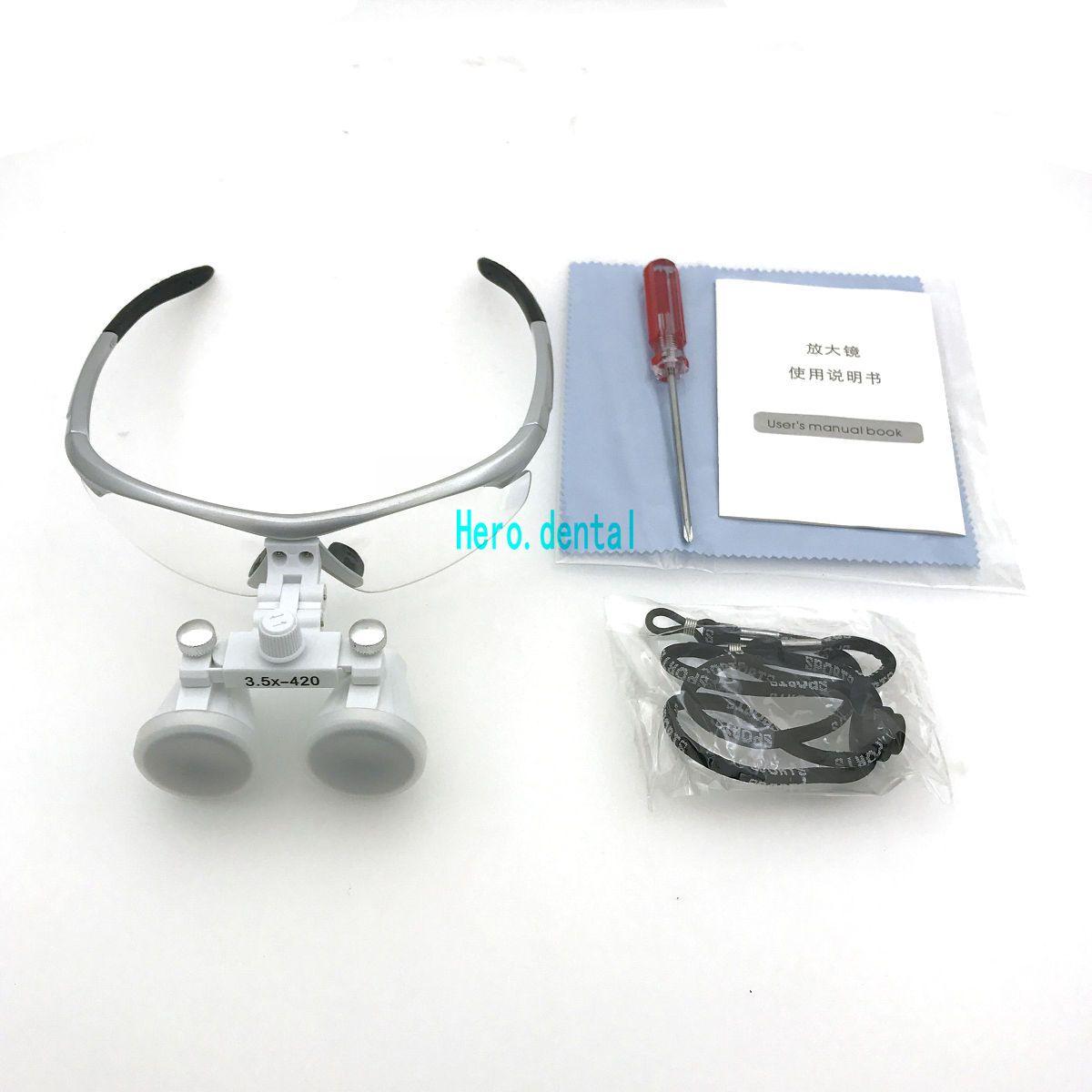 5 Color Dental Loupes Surgical Binocular Loupe dental Magnifier Glasses 3.5x420mm